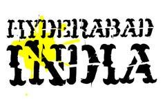 Sello tipográfico de Hyderabad ilustración del vector