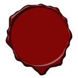 Sello vacío de la cera roja Imagenes de archivo