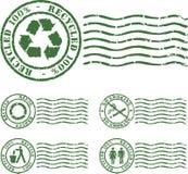 Sello verde Foto de archivo libre de regalías
