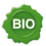 Sello verde de la cera bio Fotografía de archivo libre de regalías