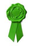 Sello verde de la garantía del eco Imágenes de archivo libres de regalías