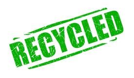 Sello verde reciclado Imagen de archivo