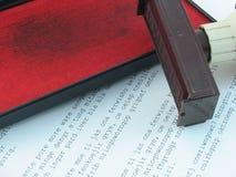 Sello y pista Foto de archivo libre de regalías