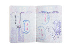 Sellos americanos del pasaporte Imágenes de archivo libres de regalías