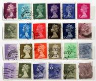 Sellos BRITÁNICOS Fotografía de archivo libre de regalías