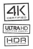 Sellos certificados tecnologías video Foto de archivo libre de regalías