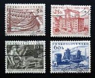 Sellos checoslovacos Imagen de archivo