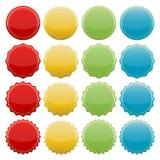 Sellos coloridos ilustración del vector