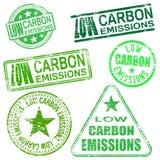 Sellos con poco carbono de las emisiones Imagen de archivo libre de regalías