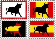 Sellos con toros Imagenes de archivo