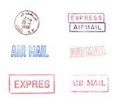 Sellos de correo de goma Fotos de archivo libres de regalías