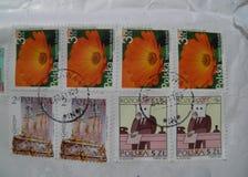 Sellos de correo polacos Fotografía de archivo libre de regalías