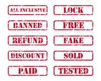 Sellos de goma Imagen de archivo libre de regalías