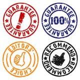 Sellos de goma de la garantía Imagen de archivo libre de regalías