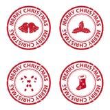 Sellos de goma de la Navidad Imagenes de archivo