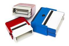 sellos de goma de la Uno mismo-tinta Fotos de archivo libres de regalías