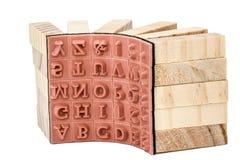 Sellos de goma el alfabético inglés, aislado en el fondo blanco Imagen de archivo