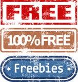 Sellos de goma libres fijados Fotografía de archivo