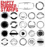 Sellos de goma vacíos de Grunge Fotografía de archivo libre de regalías