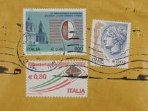 Sellos de Italia Imágenes de archivo libres de regalías