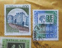 Sellos de Italia Foto de archivo