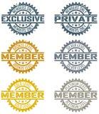 Sellos de la calidad de miembro Imagen de archivo libre de regalías