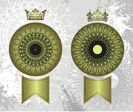 Sellos de la corona Foto de archivo