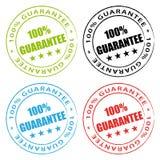 sellos de la garantía del 100% Imagenes de archivo