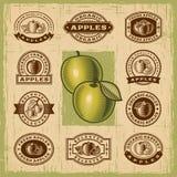 Sellos de la manzana del vintage fijados libre illustration