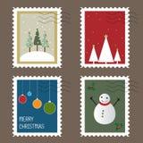 Sellos de la Navidad Fotos de archivo libres de regalías