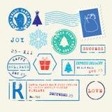 Sellos de la Navidad fijados Imagen de archivo