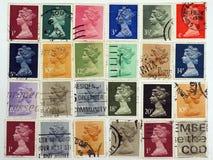 Sellos de la reina Elizabeth.Postage. Imagen de archivo libre de regalías