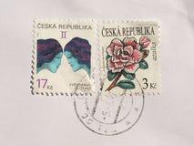 Sellos de la República Checa Fotos de archivo