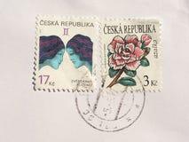 Sellos de la República Checa Fotografía de archivo libre de regalías