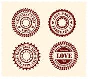Sellos de la vendimia del día de tarjeta del día de San Valentín Foto de archivo