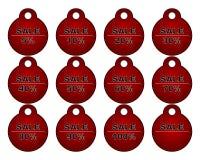 Sellos de la venta fijados Imagen de archivo