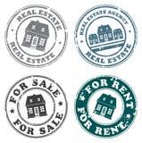 Sellos de las propiedades inmobiliarias Imagen de archivo