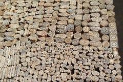 Sellos de madera Fotografía de archivo libre de regalías