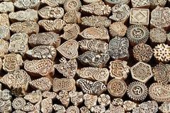 Sellos de madera Imagen de archivo libre de regalías