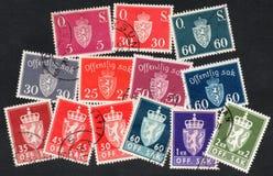 Sellos de Noruega Fotografía de archivo