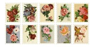 Sellos de Rose de la vendimia imagen de archivo libre de regalías