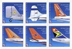 Sellos de South African Airways imagen de archivo libre de regalías