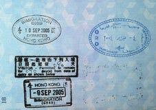 Sellos de visa del pasaporte Fotos de archivo