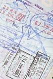 Sellos de visa del pasaporte de los E.E.U.U. fotos de archivo libres de regalías