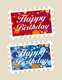 Sellos del feliz cumpleaños libre illustration
