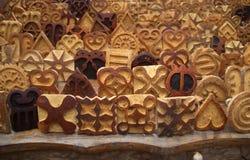 Sellos del paño de Adinkra Fotos de archivo