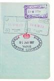 Sellos del pasaporte. imagen de archivo libre de regalías