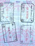 Sellos del pasaporte Fotos de archivo libres de regalías