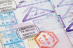 Sellos del pasaporte Imagen de archivo libre de regalías
