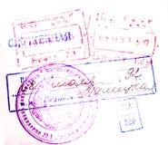 Sellos del pasaporte Fotos de archivo